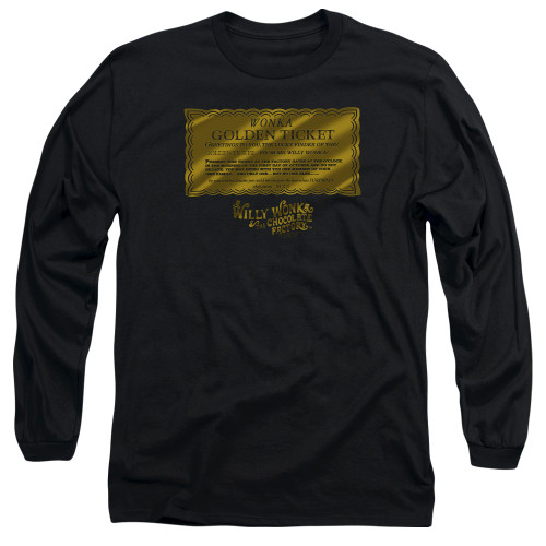 Image for Willy Wonka and the Chocolate Factory Long Sleeve Shirt - Golden Ticket
