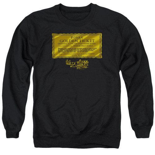 Image for Willy Wonka and the Chocolate Factory Crewneck - Golden Ticket