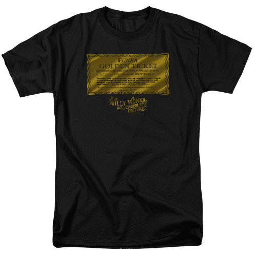 Image for Willy Wonka and the Chocolate Factory T-Shirt - Golden Ticket