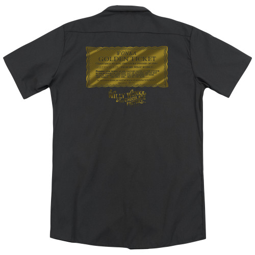 Image for Willy Wonka and the Chocolate Factory Dickies Work Shirt - Golden Ticket