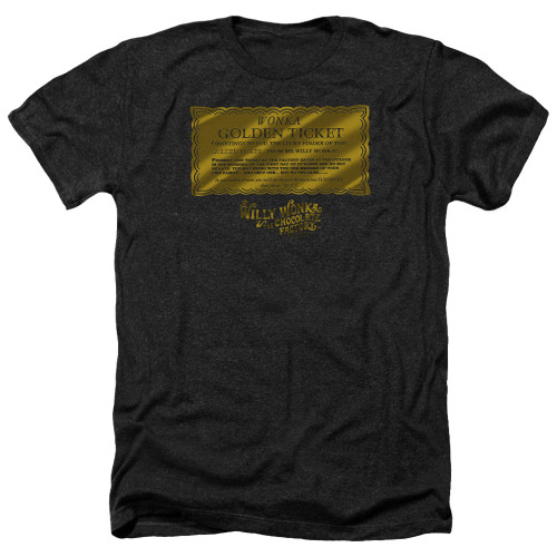 Image for Willy Wonka and the Chocolate Factory Heather T-Shirt - Golden Ticket