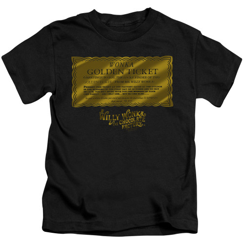 Image for Willy Wonka and the Chocolate Factory Golden Ticket Kid's T-Shirt