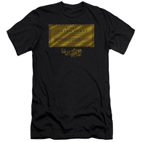Image for Willy Wonka and the Chocolate Factory Premium Canvas Premium Shirt - Golden Ticket