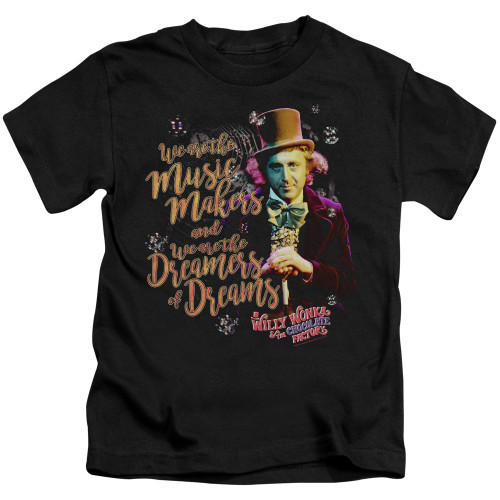 Image for Willy Wonka and the Chocolate Factory Music Makers Kid's T-Shirt