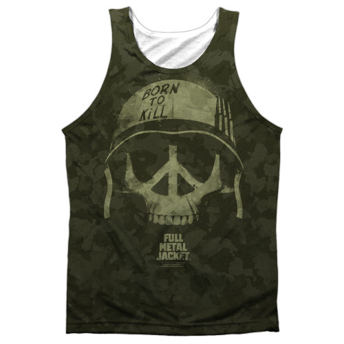 Front image for Full Metal Jacket Sublimated Tank Top - War for Peace