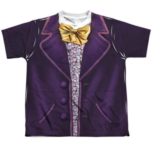 Front image for Willy Wonka and the Chocolate Factory Youth Sublimated T-Shirt - Costume