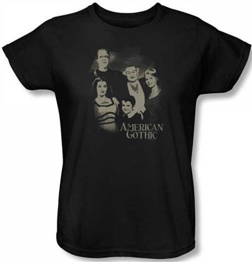 Image for The Munsters American Gothic Woman's T-Shirt