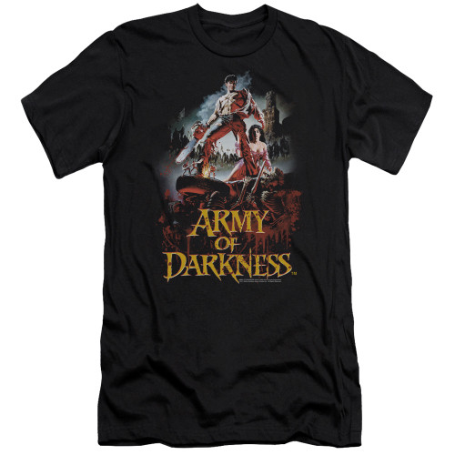 Image for Army of Darkness Premium Canvas Premium Shirt - Bloody Poster