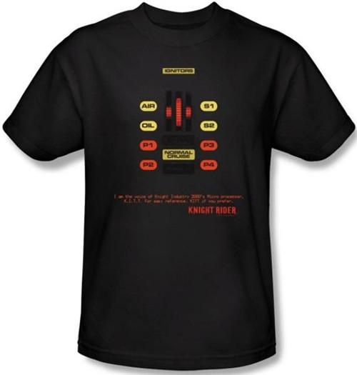 Image Closeup for Knight Rider KITT Consol T-Shirt