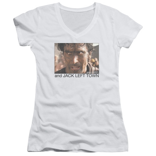 Image for Army of Darkness Girls V Neck - Jack Left Town