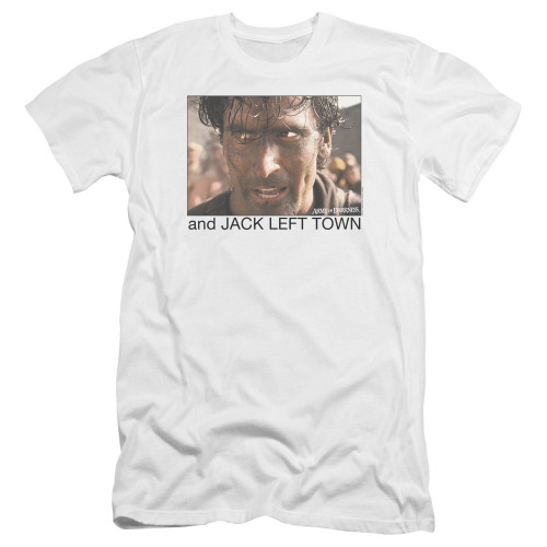 Image for Army of Darkness Premium Canvas Premium Shirt - Jack Left Town