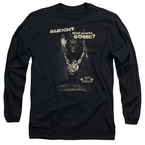 Image for Army of Darkness Long Sleeve Shirt - Want Some