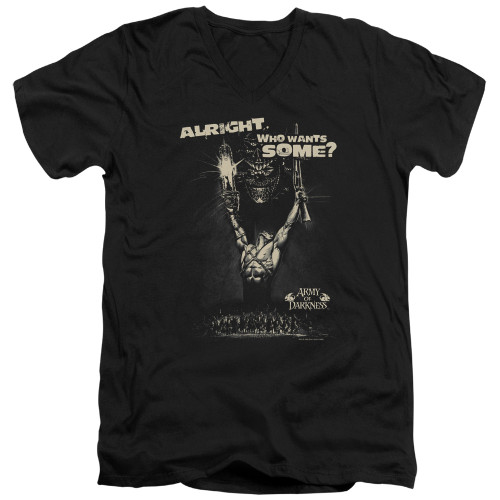 Image for Army of Darkness V Neck T-Shirt - Want Some