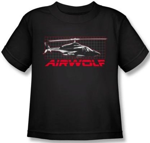 Image for Airwolf Grid Kids T-Shirt