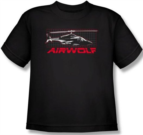 Image for Airwolf Grid Youth T-Shirt