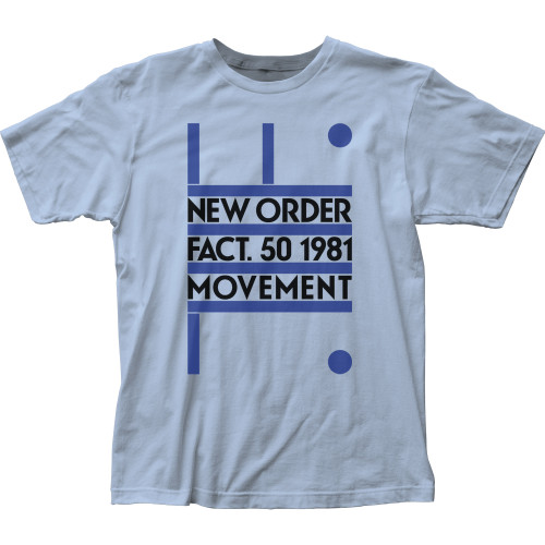 Image for New Order Fact 50 1981 Movement T-Shirt