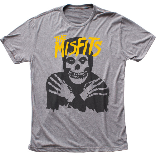 Image for The Misfits Classic Skull (Yellow logo) T-Shirt