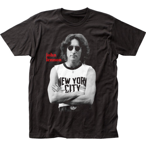 Image for John Lennon NYC B&W T-Shirt