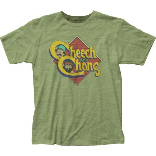 Image for Cheech & Chong T-Shirt - Charicature Logo Heather