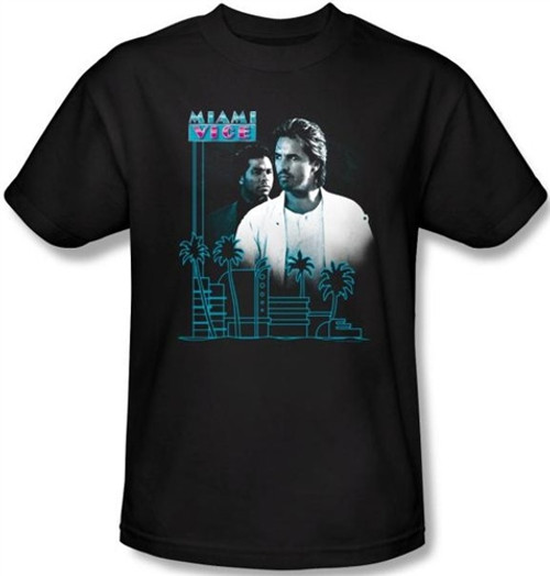 Image Closeup for Miami Vice Looking Out T-Shirt