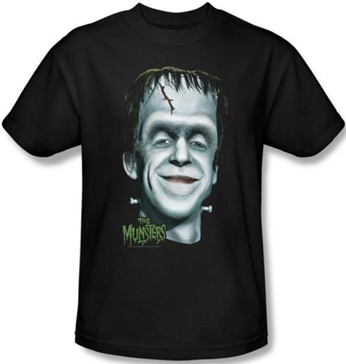 Image Closeup for The Munsters Herman's Head T-Shirt