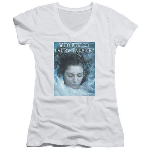 Image for Twin Peaks Girls V Neck - Who Killed Laura Palmer