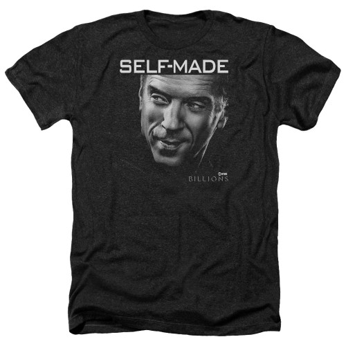 Image for Billions Heather T-Shirt - Self Made