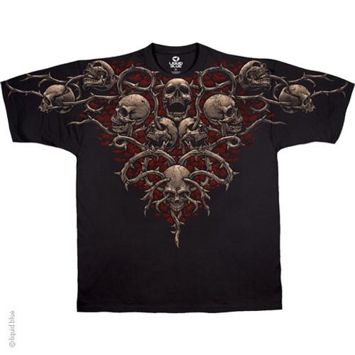 Image Closeup for Skull Brain Chain T-Shirt