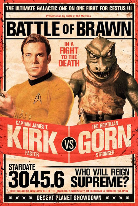 Image for Star Trek Kirk vs Gorn Poster