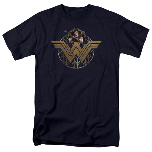 Image for Wonder Woman Movie T-Shirt - Power Stance and Emblem