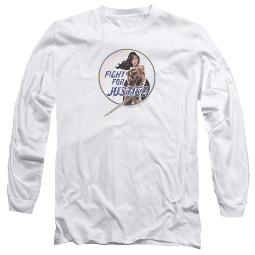 Image for Wonder Woman Movie Long Sleeve Shirt - Fight for Justice