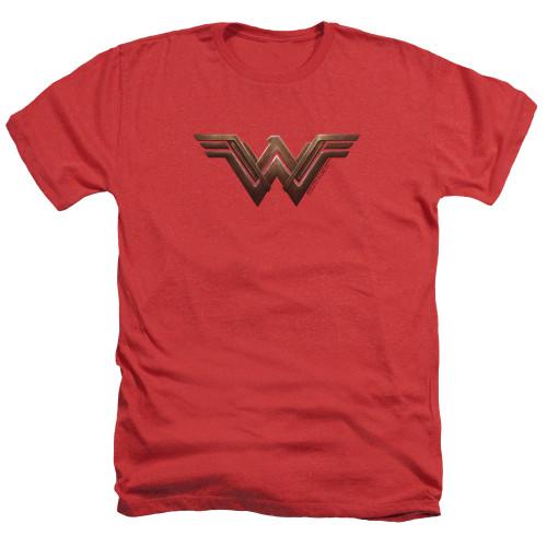Image for Wonder Woman Movie Heather T-Shirt - Wonder Woman Logo