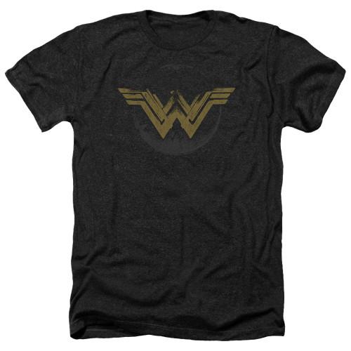 Image for Wonder Woman Movie Heather T-Shirt - Distressed Logo