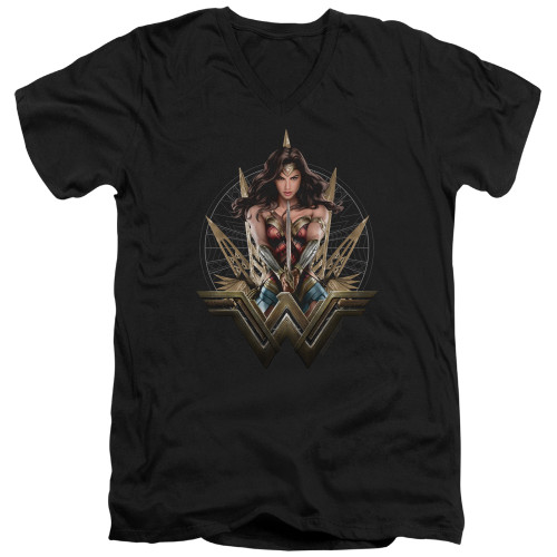 Image for Wonder Woman Movie V Neck T-Shirt - Wonder Blades