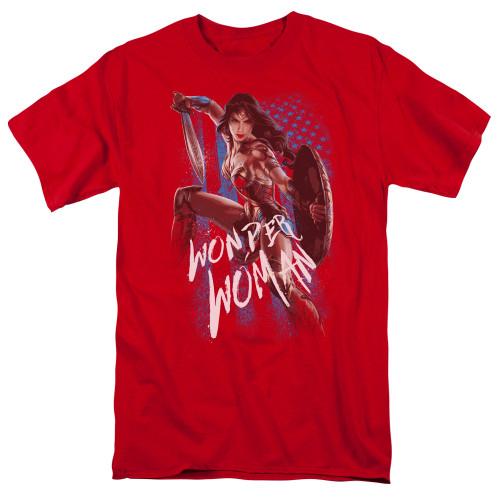 Image for Wonder Woman Movie T-Shirt - American Hero