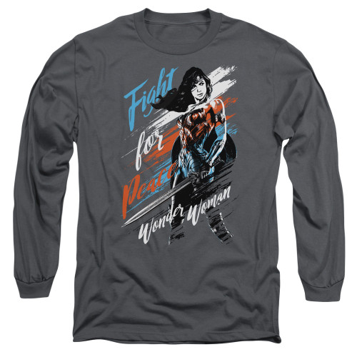 Image for Wonder Woman Movie Long Sleeve Shirt - Fight for Peace