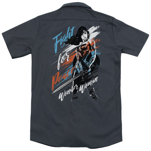 Image for Wonder Woman Movie Work Shirt - Fight for Peace