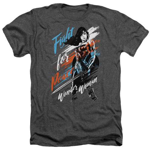 Image for Wonder Woman Movie Heather T-Shirt - Fight for Peace