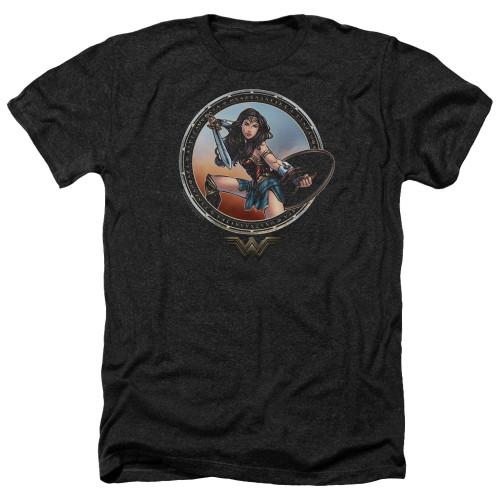 Image for Wonder Woman Movie Heather T-Shirt - Battle Pose