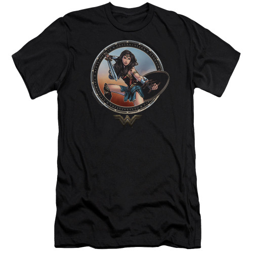 Image for Wonder Woman Movie Premium Canvas Premium Shirt - Battle Pose