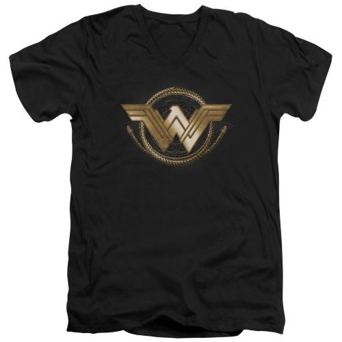 Image for Wonder Woman Movie V Neck T-Shirt - Lasso Logo