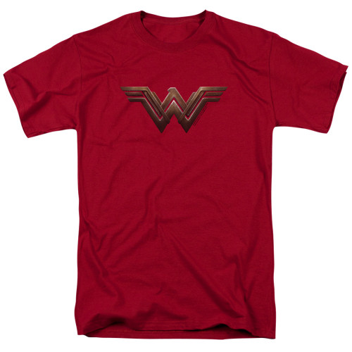 Image for Wonder Woman Movie T-Shirt - Wonder Woman Logo on Cardinal