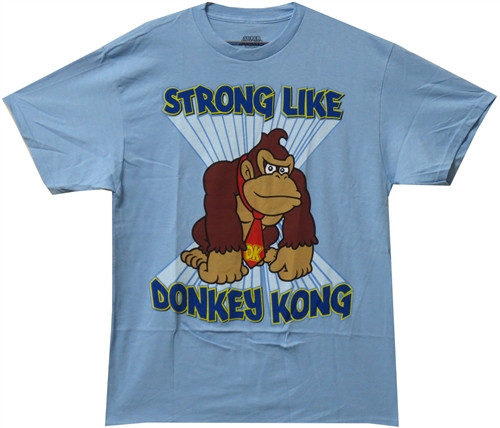 Image Closeup for Strong Like Donkey Kong T-Shirt