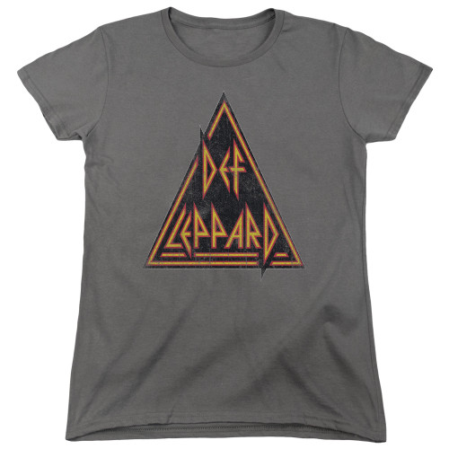 Image for Def Leppard Womans T-Shirt - Distressed Logo