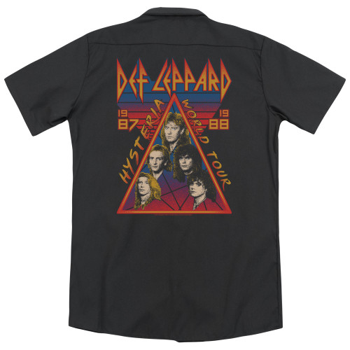 Image for Def Leppard Dickies Work Shirt - Hysteria Tour
