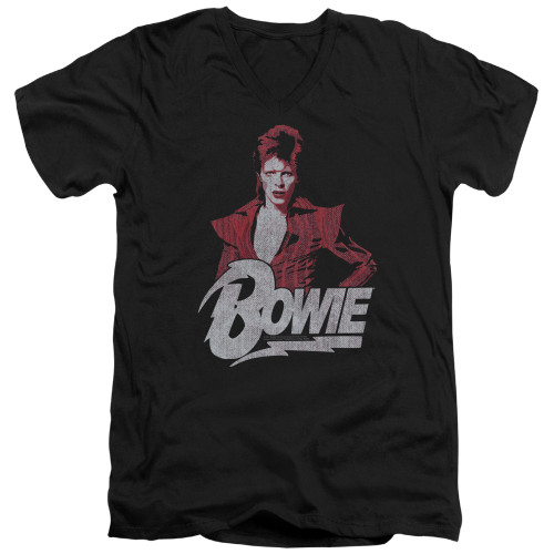 Image for David Bowie V Neck T-Shirt - Diamond Dave