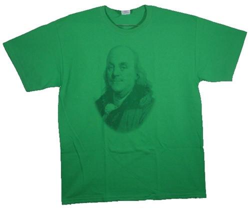 Image Closeup for Ben Franklin T-Shirt