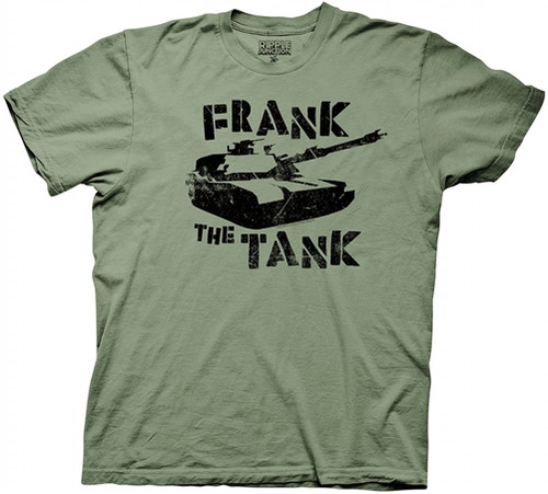 Image Closeup for Old School Frank the Tank T-Shirt