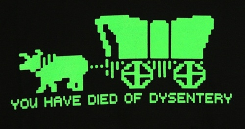 Image for Oregon Trail You have died of dysentery T-Shirt