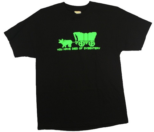 Image Closeup for Oregon Trail You have died of dysentery T-Shirt